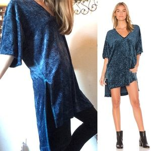 Free People Crushed Velvet Tunic